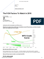 The 5 Oil Factors to Watch in 2018
