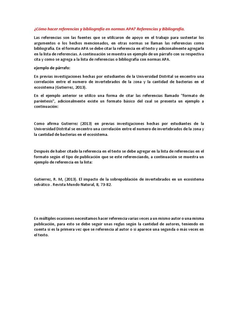 Bonito Bibliografía De Referencia Reanudar Muestra Patrón - Ejemplo ...