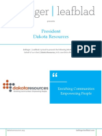 Position Profile - Dakota Resources - President