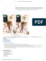+12V and -12V Dual Power Supply Circuit Diagram