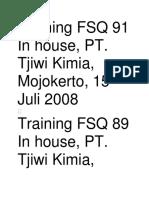 Training FSQ 91 In house.docx