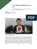 Padres buscan a niño extraviado hace tres días en Otuzco
