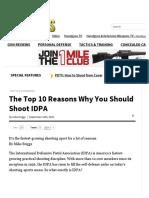 Shooting Top 10 Reasons to Shoot IDPA