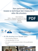 Rifle Competition Technique in Elite Rifle Shooters