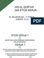 Kajian Al Qurc3a2e282ace284a2an Tentang Etos Kerja