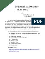 Quality Management Team Task