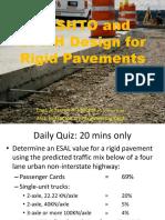 5.1 AASHTO and DPWH Design of Rigid Pavements