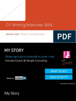 CV Writing & Interviewing Skills UoAJK