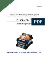 TYPE-71C+ Operation Manual