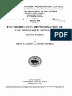Microscopc Determination of Nonopaqe Minerals