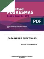 Data Dasar Puskesmas 2015