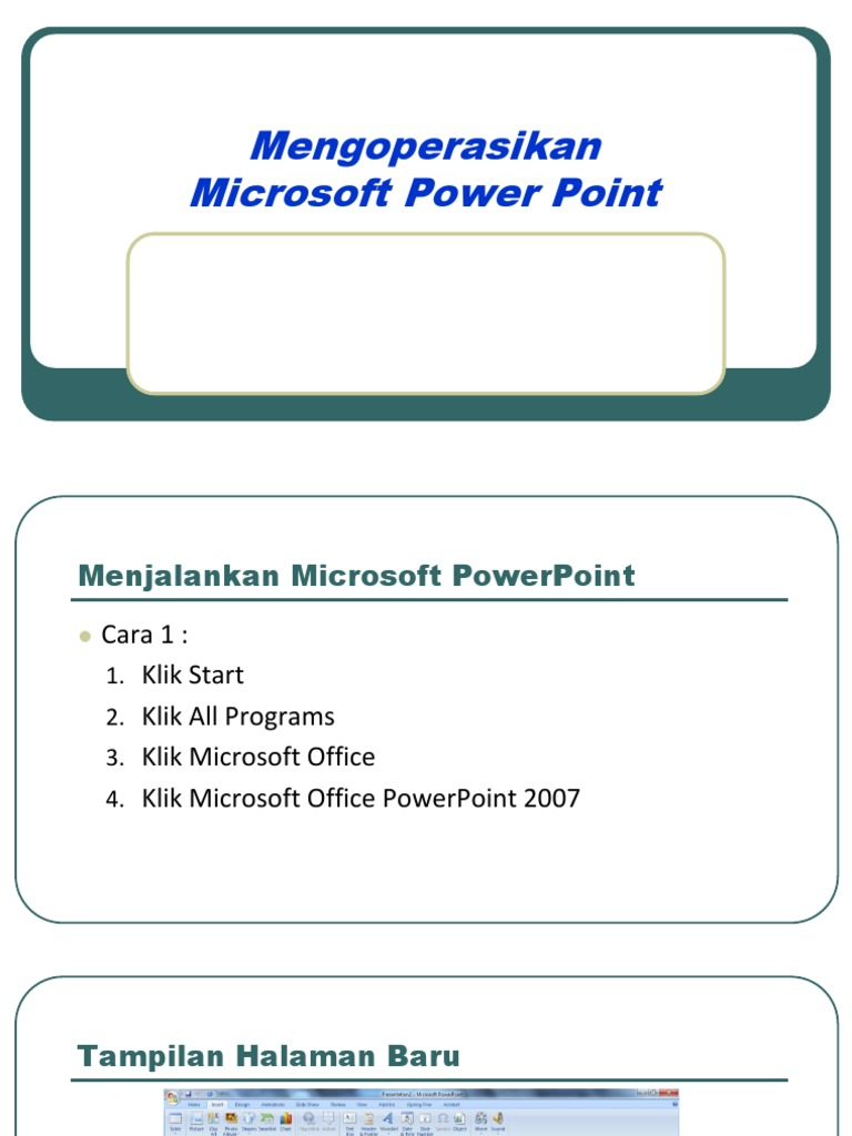 Menjalankan Microsoft PowerPoint