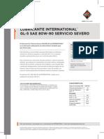 Lubricante GL 5 Servicio Severo SAE 80W 90