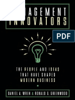 Daniel a. Wren, The Late Ronald G. Greenwood-Management Innovators_ the People and Ideas That Have Shaped Modern Business-Oxford University Press, USA (1998)