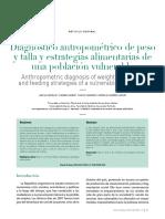 Estudio DiagnósticoAntropométrico Talla y Peso