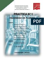 PRACTICA N°1 VISCOSIDAD DE FLUIDOS