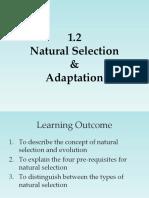 lecture 3 - natural selection and adaptation