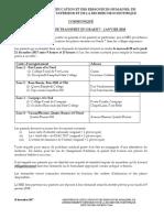 Critères pour les demandes de transfert des collèges en Grade 7