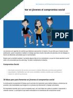 30 Ideas Para Fomentar en Jóvenes El Compromiso Social