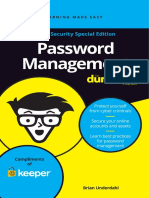 Password Management for Dummies Keeper Security Special Edition