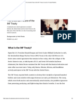The Uncertain Future of the INF Treaty