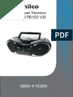 Manual Serviço Audio Pb150