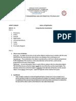 JAPHET CABAJES-Comprehensive Examination in Stattics of Rigid Bodies