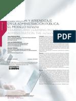 Formación y aprendizaje en la Administración Publica. El Modelo 70,20 10.