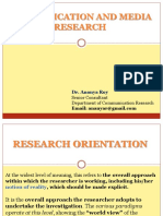 Orientation Research