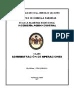 Silabo de Administracion de Operaciones 2017 - II - WILMER