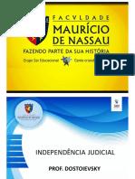 Aula Independe Ncia Judicial