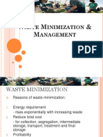Waste Minimization and Management