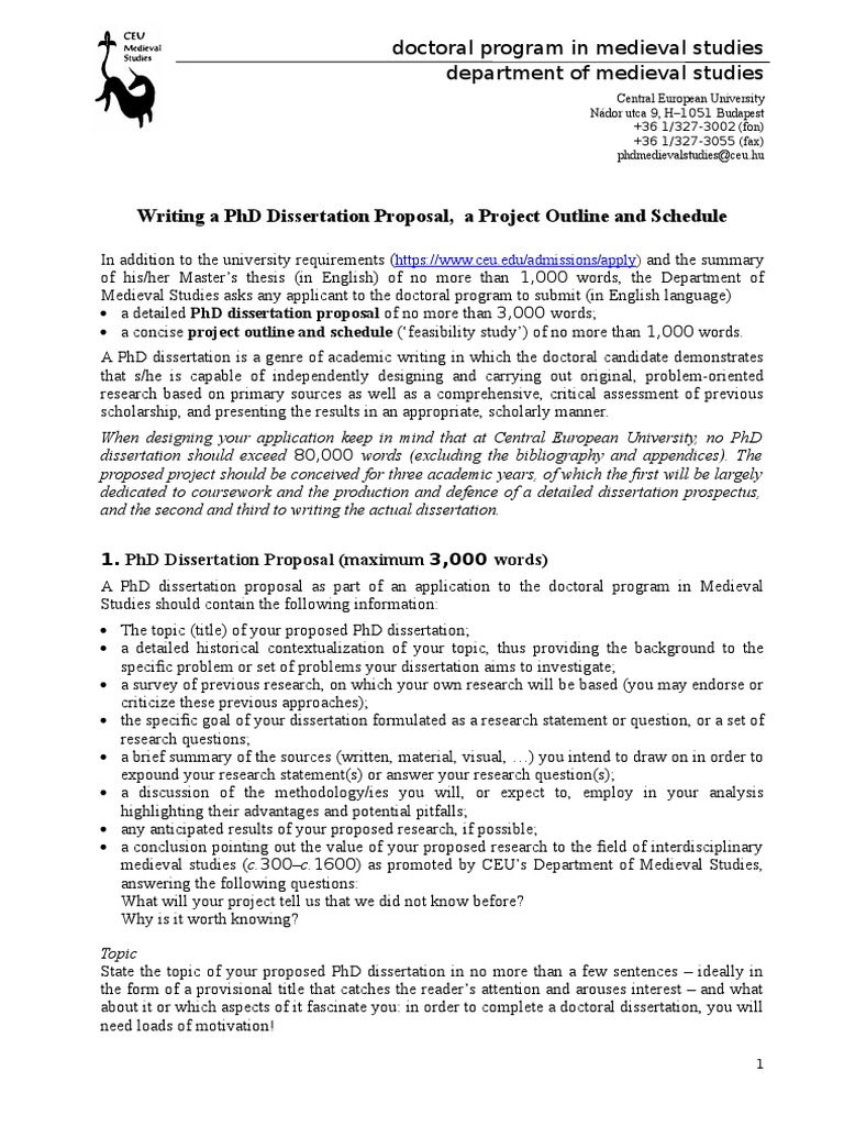Help writing dissertation proposal in philosophy