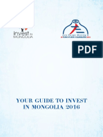 Invest Mongolia Guide Book 2016
