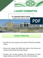 Shariah Audit - Lecture 5 (Sha Audit Comt)