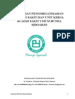 Pedoman Pengorganisasian RS Dan Unit Kerja