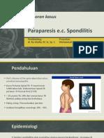 Lapkas Paraparese e.c. Spondilitis TB