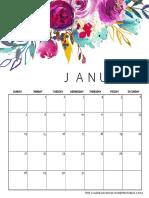2018 Floral Calendar