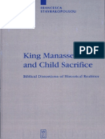 (Beihefte Zur Zeitschrift Für Die Alttestamentliche Wissenschaft 338) Francesca Stavrakopoulou-King Manasseh and Child Sacrifice_ Biblical Distortions of Historical Realities-Walter de Gruyter (2004)