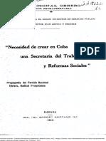 Antiga Necesidad crear en Cuba Secretaría de Trabajo 1913.pdf