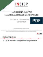 Halfaya Generator Testing & Maintenance