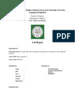Ohms Law Lab report