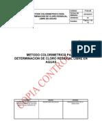 P-sa-89 Metodo Colorimetrico Para Determinacion de Cloro Residual v1