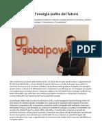 Global Power Energy Store, Consulenza Di Esperti in Tema Di Energia