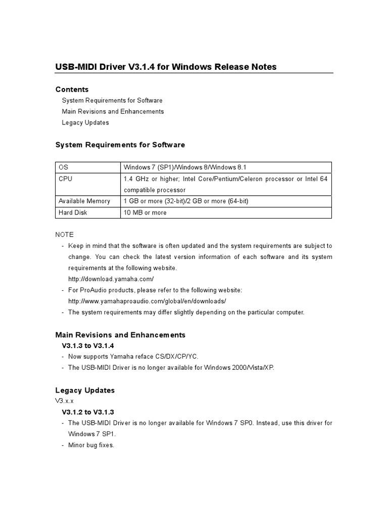 ReleaseNotes_win pdf | Windows Xp | Microsoft Windows