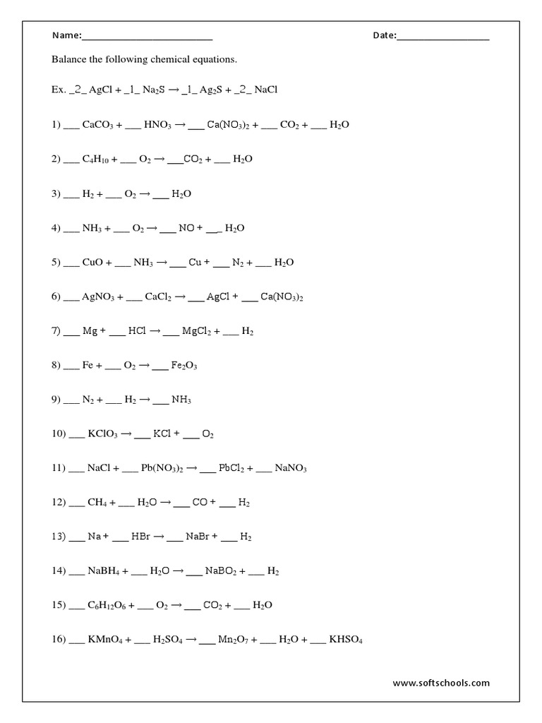 Balancing Equations Worksheet Answers simple equation worksheets ...