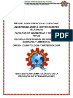 ESTUDIO CLIMATOLOGICO DE LA PROVINCIA DE AZÁNGARO-PERU