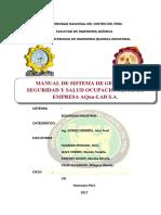 Manual de Sistema de Gestion de Seguridad y Salud Ocupacional Grupo Nº 04