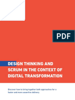 Design Thinking and Scrum in the Context of Digital Transformation