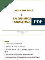 química forense y su relación con la  química analítica
